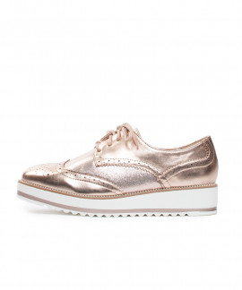 Oxfordice sa debljim potplatom Taya rose gold